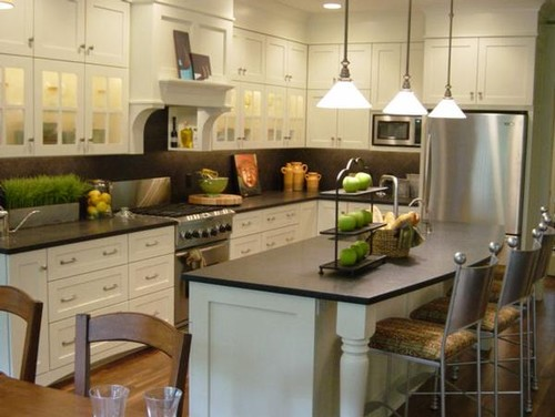 Soapstone kitchen countertops with full height soapstone for Caesarstone portland