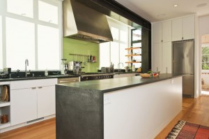 Soapstone Kitchen Countertops With A Waterfall Edge