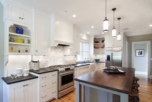 kitchens with soapstone butcher block wood seattle