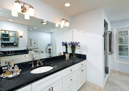 Bathroom With Soapstone Vanities Seattle Soapstone