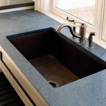 SOAPSTONE WITH OIL RUBBED BRONZE SINK