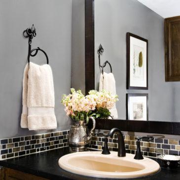 Bathroom with Soapstone Vanities